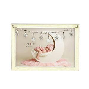 ベビーフレーム MB97-P 写真立て フォトフレーム 写真たて 写真入れ ベビー 赤ちゃん 星型チャーム クリスタル キラキラ パステルカラー かわいい ポストカード 出産祝い 誕生日 贈り物 おし