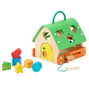 あそびのおうち|森のあそび道具カギ遊び鍵遊びそろばん型はめ積木つみき木製木のおもちゃ知育玩具1歳2歳べビーキッズプレゼントギフト贈り物出産祝い誕生日エドインター