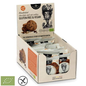 有機グルテンフリークッキー オーツ麦 チョコチップ 30g x 20包 ジェネラス GENEROUS ギフト バレンタイン ベルギー 個包装 ヴィーガン 動物性原料不使用 RSPO認証 有機パーム油