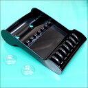 送料無料 シザートレイ 吸盤付き ブラック【ハサミ はさみ 収納 シザートレイ トレー 皿 台 ハサミケース】