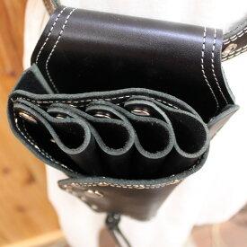 シザーベルトt-se5 本革 4丁用 ベルト付き 3色 日本製【シザーバッグ シザーバック シザーケース はさみ ハサミ 鋏 トリマー 美容師】