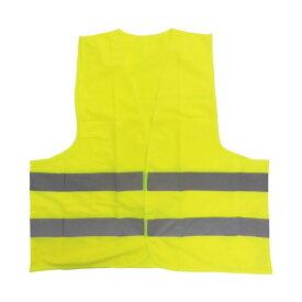 安全用品 (まとめ)ミドリ安全 高視認性安全ベスト 蛍光イエロー(×10セット)