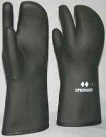 スプリンゲン トリガーミトン3本指防寒手袋(黒色)