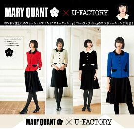MARY QUANT × U-FACTORY コラボ商品 ユニオンジャックをイメージ ジャケットとスカートのセット M43031 M43032 M43033 M43034 マリークヮント ユーファクトリー