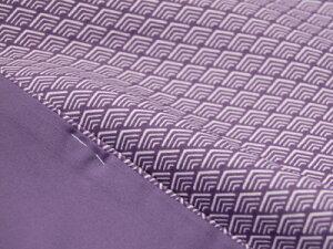 【江戸小紋】洗える着物仕立上り袷「変わり入子菱」紫