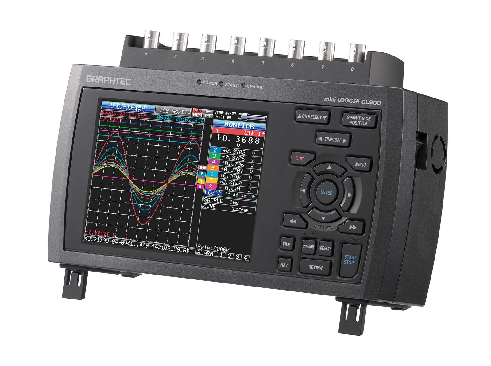 グラフテック データロガー midi LOGGER GL980