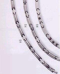 【メーカー直送品、送料無料】 MARE純チタン製9石ゲルマニウム高級ネックレス  プラチナメッキ45.5cm MARE129
