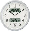 【アウトレット品】シチズン電波掛時計「ネムリーナカレンダーM01」4FYA01-097-19