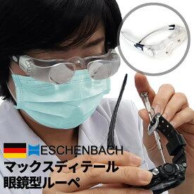 眼鏡型ルーペ ESCHENBACH エッシェンバッハ max DETAIL マックスディテール 倍率2x EB-E162451