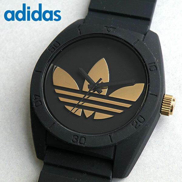 アディダス adidas originals 腕時計 時計 ペアウォッチ サンティアゴ SANTIAGO ADH2912 黒 ブラック ゴールド メンズ レディース ユニセックス 腕時計 ウォッチ 海外直輸入品