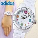 アディダス adidas originals ADH2941 人気シリーズ BRISBANE mini ブリスベン レディースペアウォッチにも キッズ 腕時計 新品 時計 白 ホワイト マルチカラー