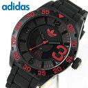 アディダス adidas ニューバーグ NEWBURGH メンズ 黒 赤 腕時計 時計 防水 カジュアル スポーツ ブランド ADH2965 海…