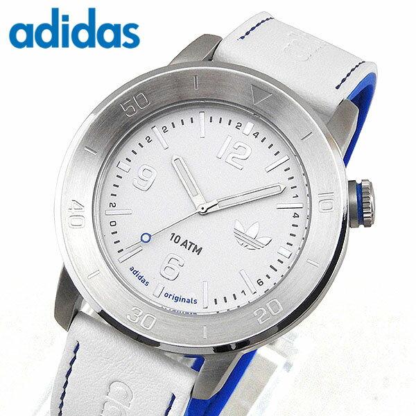 【送料無料】 adidas アディダス マンチェスター MANCHESTER ADH3010 海外モデル メンズ 腕時計 ウォッチ レザー シリコン バンド クオーツ アナログ 白 ホワイト 青 ブルー 誕生日プレゼント 男性 女性 ギフト 父の日