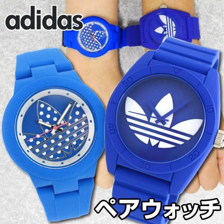【送料無料】 アディダス ペアウォッチ ADIDAS adidas originals サンティアゴ アバディーン 青 ブルー 腕時計 メンズ レディース ユニセックス 海外モデル 誕生日 ギフト カップル 結婚祝い 夫婦 おそろい