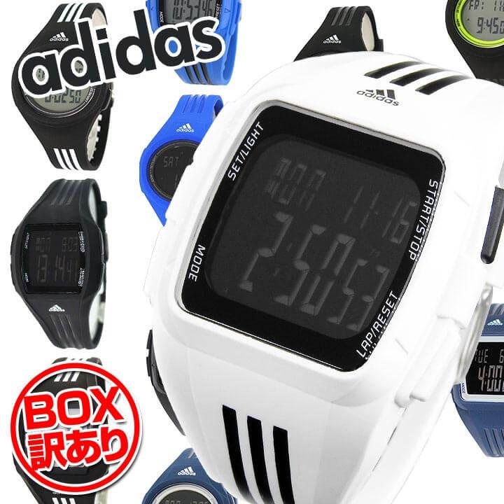 【BOX訳あり】【送料無料】 adidas アディダス 時計 デジタル 海外モデル メンズ レディース 腕時計 カジュアル ランニングウォッチ スポーツ 黒 ブラック 青 ブルー 白 ホワイト 誕生日プレゼント 男性 女性 ギフト