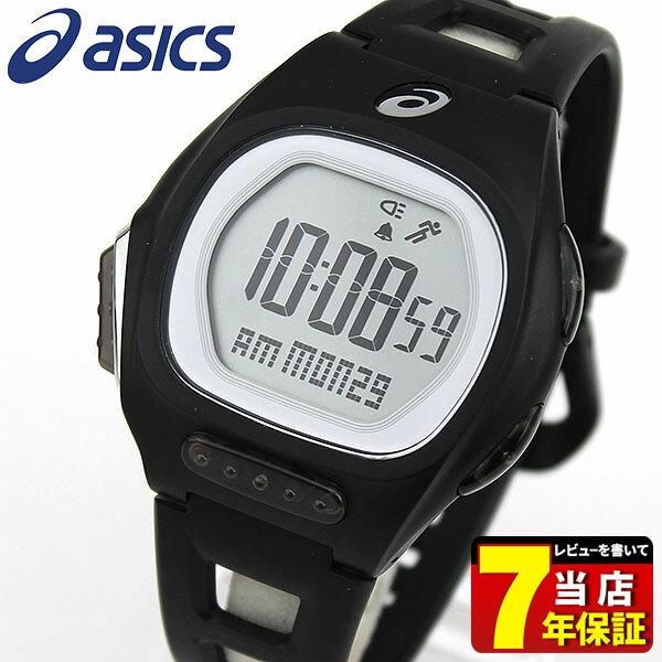 【送料無料】 asics アシックス CQAR1001 国内正規品 メンズ レディース 腕時計 ポリウレタン バンド クオーツ ランニング スポーツ デジタル 黒 ブラック 商品到着後レビューを書いて7年保証