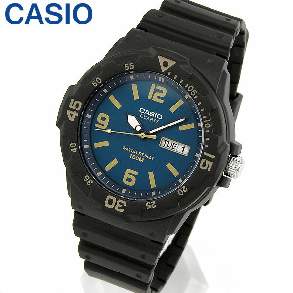 【3ヶ月保証】CASIO カシオ チプカシ チープカシオ スタンダード MRW-200H-2B3 海外モデル メンズ 男性用 腕時計 ウレタン クオーツ アナログ 黒 ブラック ネイビー 紺 父の日