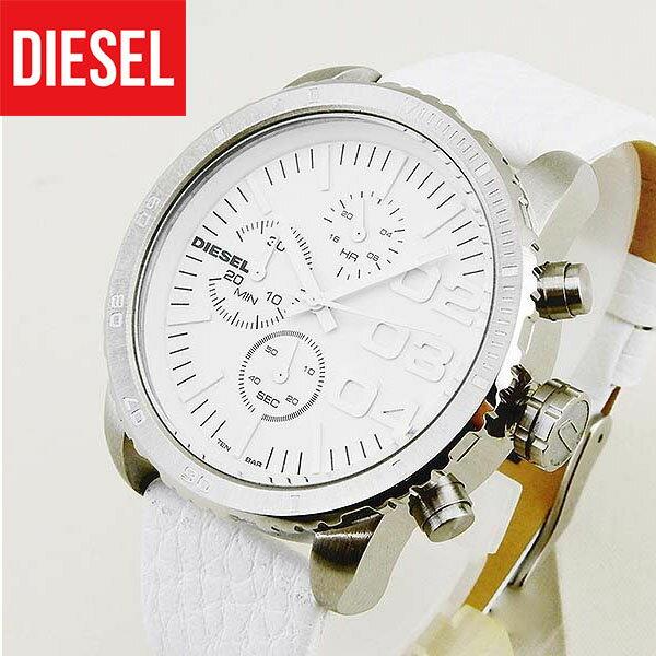 【送料無料】 DIESEL ディーゼル DZ5330 レディース 腕時計 watch 時計 アナログ レザー ホワイト 白 海外モデル