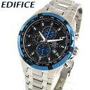 【送料無料】 CASIO カシオ EDIFICE エディフィス EF-539D-1A2V メンズ 腕時計 メタル 黒 ブラック 青 ブルー 銀 シル…