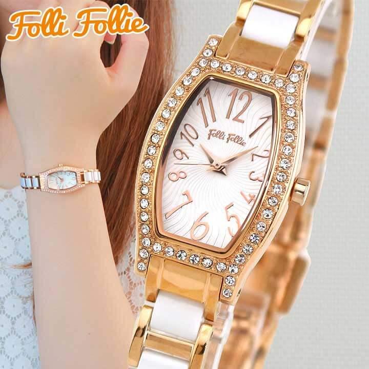 【送料無料】 Folli Follie フォリフォリ DEBUTANT デビュタント WF8B026BPW-XX レディース 腕時計 メタル 白 ホワイト ピンクゴールド ローズゴールド 国内正規品