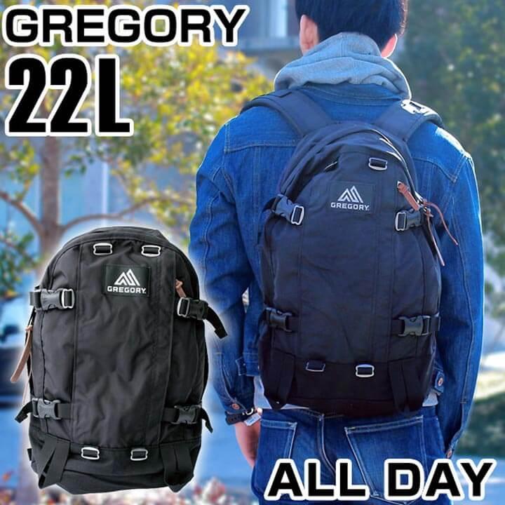 【送料無料】 GREGORY グレゴリー ALL DAY オールデイ バッグ リュックサック バックパック リュック デイパック カバン 65190-1041 黒 ブラック 22L 海外モデル メンズ 鞄 ナイロン 通勤 通学 父の日