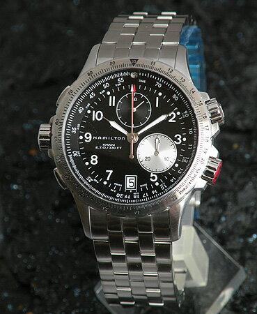 【送料無料】 ハミルトン 腕時計 HAMILTON カーキE.T.O Khaki ETO H77612133 スイス製クオーツ クロノグラフ スプリットセコンド メンズ 海外モデル 誕生日 ギフト