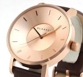 Klasse14クラス14KLASSE14VolareVO14RG002M海外モデルメンズレディース腕時計革バンドレザークオーツアナログ茶ブラウン金ピンクゴールド42mm
