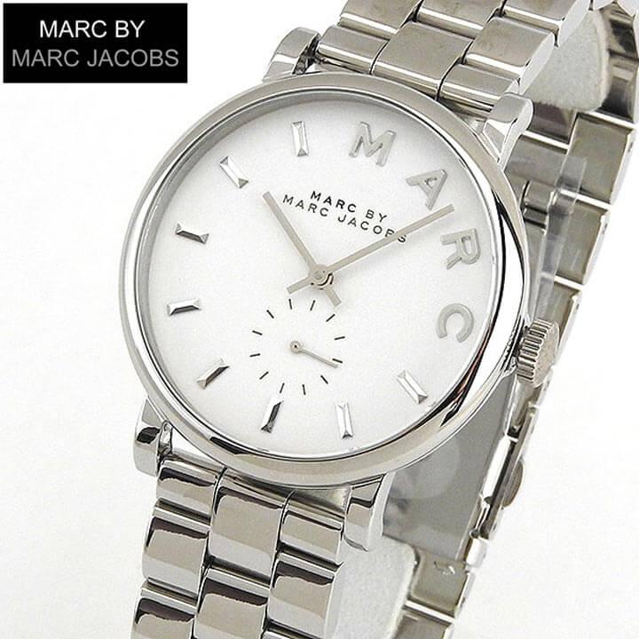 【送料無料】 MARC BY MARC JACOBS マークバイマーク ジェイコブス Baker ベイカー MBM3242 海外モデル レディース 腕時計 ウォッチ メタル バンド クオーツ アナログ 白 ホワイト 銀 シルバー