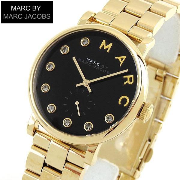 【送料無料】 MARC BY MARC JACOBS マークバイマーク ジェイコブス Baker ベイカー MBM3421 海外モデル レディース 腕時計 ウォッチ 黒 ブラック 金 ゴールド
