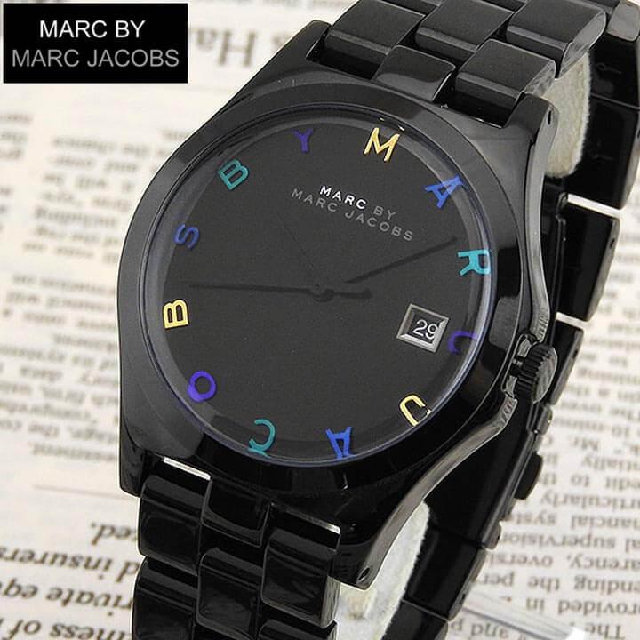 【送料無料】 MARC BY MARC JACOBS マーク バイ マーク ジェイコブス mbm8601 海外モデル レディース 腕時計 シンプル ブラック メタル ウォッチ クオーツ