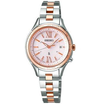 SEIKOセイコーLUKIAルキアSSVV012国内正規品レディース女性用腕時計ウォッチチタンメタルバンド電波ソーラーアナログ