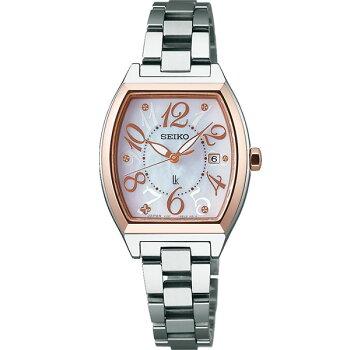 SEIKOセイコーLUKIAルキアSSVN026国内正規品レディース女性用腕時計ウォッチメタルバンドソーラーアナログピンク銀シルバー