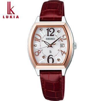 SEIKOセイコーLUKIAルキアSSVW094国内正規品レディース腕時計ウォッチメタルバンド電波ソーラーアナログレッドホワイト