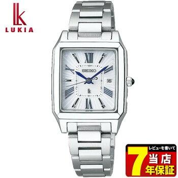 SEIKOセイコーLUKIAルキアSSVW097国内正規品レディース腕時計ウォッチメタルバンド電波ソーラーアナログ白ホワイト青ブルー