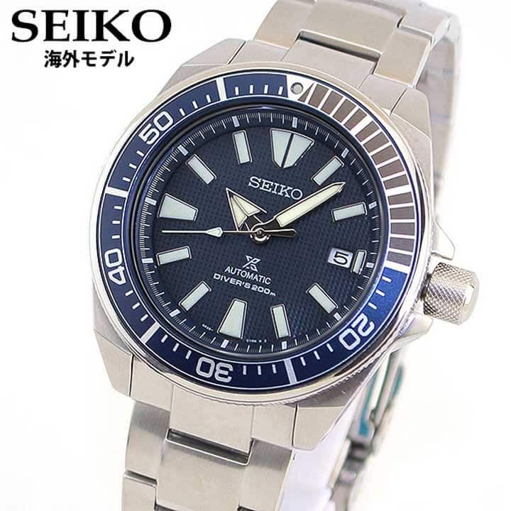 【送料無料】 SEIKO セイコー PROSPEX プロスペックス サムライダイバー 逆輸入 海外モデル SRPB49K1 メンズ 腕時計 メタル ダイバーズ 機械式 メカニカル 自動巻き 青 ネイビー
