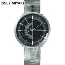 3/1はエントリーでポイント10倍 SEIKO セイコー ISSEY MIYAKE イッセイミヤケ メンズ 腕時計 メタル 機械式 メカニカル 自動巻き 黒 ブラック 銀 シルバー 誕生日プレゼント 男性 ギフト NYAK002 国内正規品