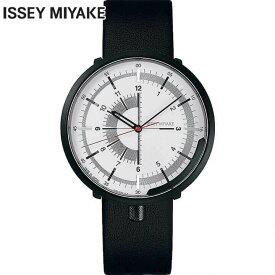 SEIKO セイコー ISSEY MIYAKE イッセイミヤケ メンズ 腕時計 機械式 メカニカル 自動巻き 牛皮革 カーフ 黒 ブラック 銀 シルバー 誕生日プレゼント 男性 ギフト NYAK003 国内正規品