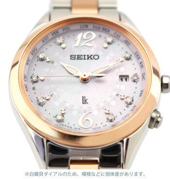 【ノベルティ付き】【送料無料】SEIKOセイコーLUKIAルキア限定モデルSSQV046レディース腕時計チタンメタル電波ソーラーピンクゴールドローズゴールド白蝶貝国内正規品商品到着後レビューを書いて7年保証