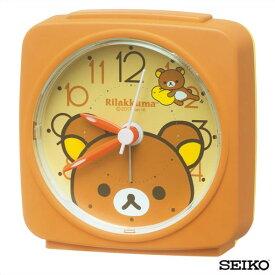 SEIKO セイコークロック キャラクター リラックマ CQ153B 国内正規品 目ざまし時計 オレンジ 子供 かわいい