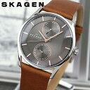 SKAGEN スカーゲン SKW6086 海外モデル メンズ 腕時計 ウォッチ 革バンド レザー クオーツ アナログ グレー 茶 ブラウ…