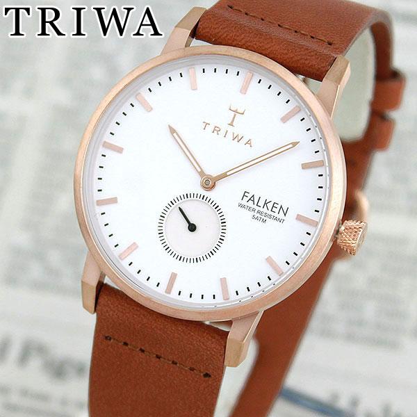 【送料無料】 TRIWA トリワ FAST101-CL010214 ROSE FALKEN 海外モデル レディース 腕時計 ウォッチ 革ベルト レザー クオーツ アナログ 白 ホワイト 金 ピンクゴールド