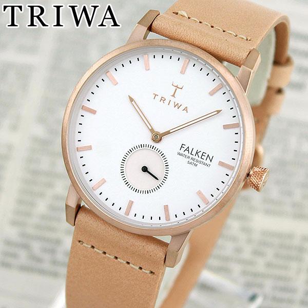 【送料無料】 TRIWA トリワ FAST101-CL010614 ROSE FALKEN 海外モデル レディース 腕時計 ウォッチ 革ベルト レザー クオーツ アナログ 白 ホワイト 金 ピンクゴールド