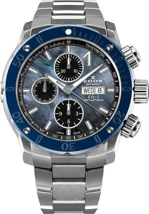 ※エドックスEDOX01122-3BU3M-NANINクロノオフショア1クロノグラフオートマチック日本限定モデル正規品腕時計