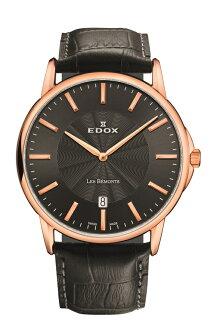 "EDOX  56001-37R-GIR ""Les Bemonts Date """