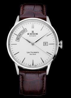 "EDOX 83007-3-艾""Les Vauberts DAYDATE 自动"""