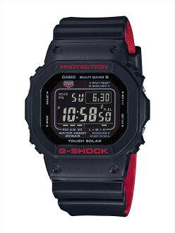 卡西欧 g-休克 GW 5000 HR 1JF 黑色与红色系列 (黑色和红色系列)