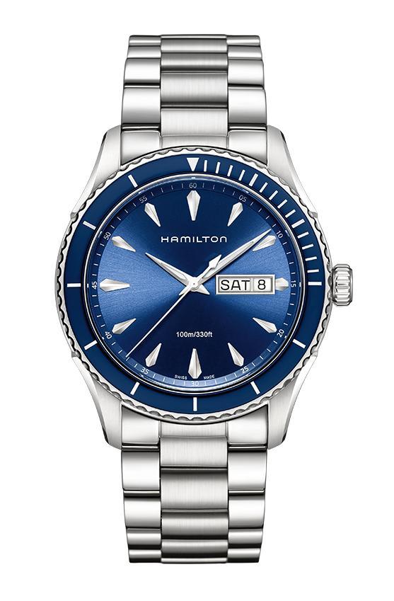 """【正規品】 HAMILTON 【ハミルトン】 H37551141 """"Jazzmaster Seaview Day Date Quartz 【ジャズマスター シービュー デイデイト クォーツ】"""" 【腕時計】"""