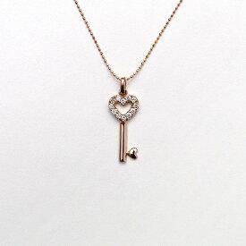 k18 ピンクゴールド ダイアモンド ネックレス
