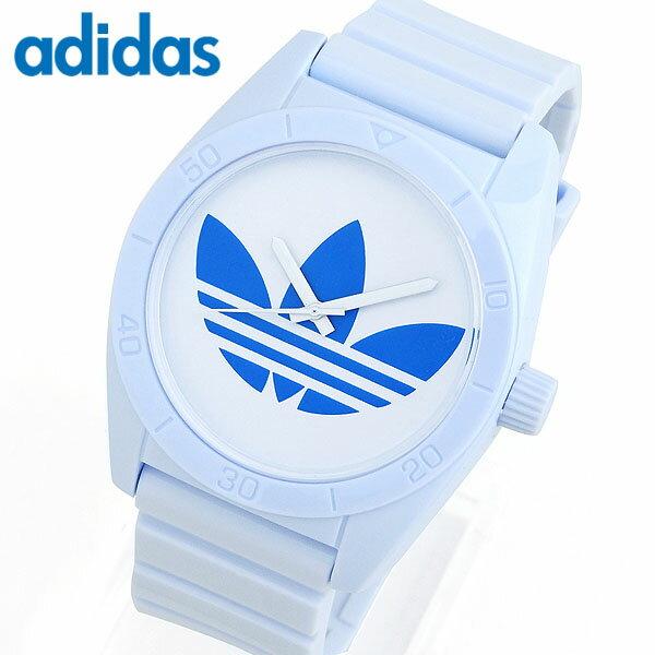 adidas アディダス SANTIAGO サンティアゴ 青 ブルー 白系 メンズ レディース 腕時計 シリコン ラバー バンド カジュアル クオーツ アナログ ADH2704 海外モデル 誕生日プレゼント ギフト