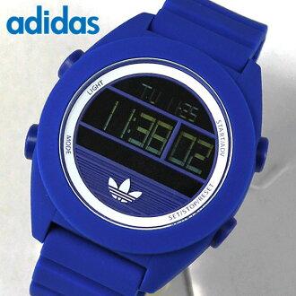 ★ adidas阿迪达斯SANTIAGO圣地亚哥数码XL ADH2910海外型号人手表钟表数码的青蓝色